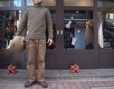 Nigel Cabourn BROAD ARROW TURTLENECK SWEATER