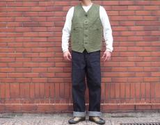 Nigel Cabourn RAILMAN VEST VINTAGE TWILL