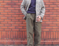 GITMAN BROTHERS AW CAMP SHIRT/Nigel Cabourn ARMY CREW JERSEY MIX