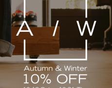 Autumn&Winter 10% OFF