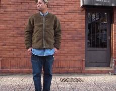 SASSAFRAS Crazy Gardener Jacket(Nylon Quilt Taffeta/Boa)