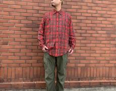 SASSAFRAS Overgrown Pants(Back Satin)/Feel Sun Half(Tartan Check)
